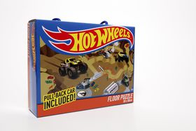 Hot Wheels Floor Puzzle With Pull Back Car