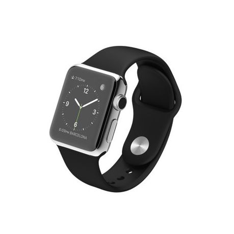 3f7f2d453be Zonabel 42mm Silicone Strap for Apple Watch - Black