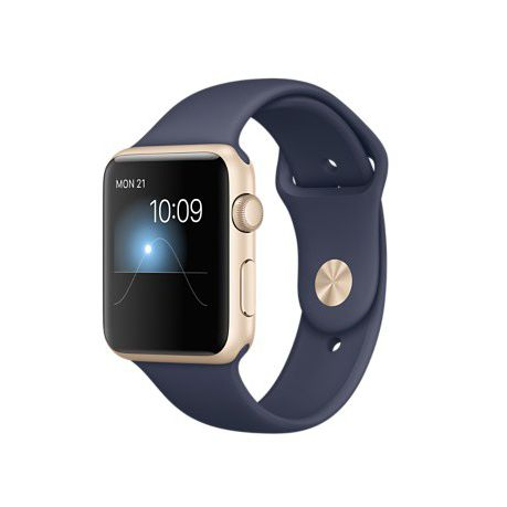 73d5190d579 42mm Silicone Apple Watch Strap by Zonabel - Navy Blue