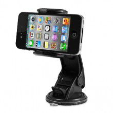 Macally Mount Holder for iPhone, Smartphone, Mobile Phone, GPS and PDA - Black