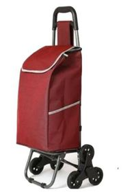 TGI TRO-01 3 Wheeled Shopping Trolley - Burgandy