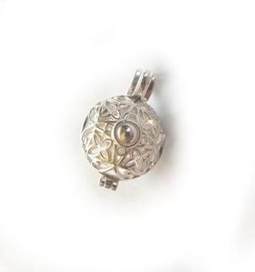 Miss Jewels Harmony Ball Style Pendant in 925 Sterling Silver