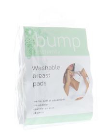 Bump Maternity Washable Breast Pads - White