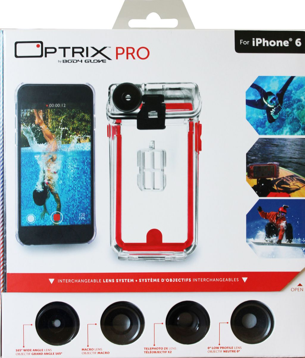 Iphone case with interchangeable lenses