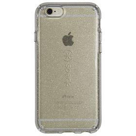 Speck Candyshell Clear with Glitter for iPhone 6/6S Plus - Clear/Gold Glitter