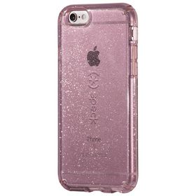 Speck Candyshell Clear with Glitter for iPhone 6/6S Plus - Beaming Orchid/Gold Glitter