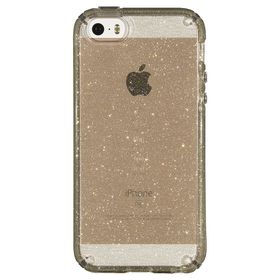 Speck Candyshell Clear with Glitter for iPhone iPhone 5/5S /5Se - Clear/Gold Glitter