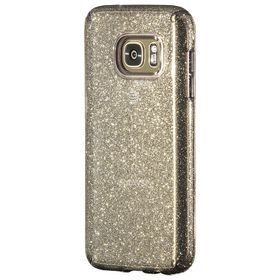 Speck Candyshell Clear with Glitter for Samsung Galaxy S7 - Onyx/Grey Glitter