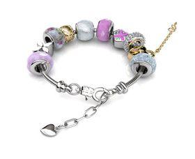 Destiny MyLady Charm Bracelet with Swarovski Crystals - Pink