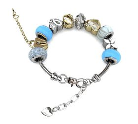 Destiny MyLady Charm Bracelet with Swarovski Crystals - Blue