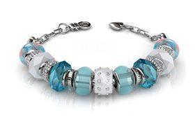 Destiny Charm Bracelet with Swarovski Crystals - Blue
