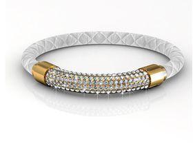 Destiny Lush Bracelet with Swarovski Crystals - White/Gold