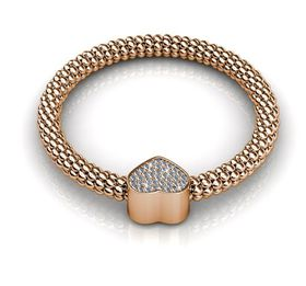 Destiny Heart Bracelet with Swarovski Crystals - Rose
