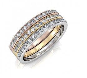 DDestiny Trinity Ring with Swarovski Crystals