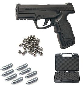 A.S.G Steyr Mannlicher M9-A1 4.5mm Steel Ball Non-Blowback Co2 Airgun Kit