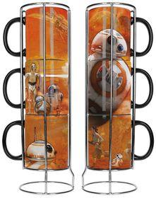 Star Wars Episode 7 BB8 Droid Stackable Ceramic Mug Set