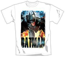 The Dark Knight Rises Running Flames T-Shirt (Large)