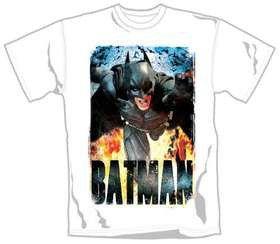 The Dark Knight Rises Running Flames T-Shirt (xlarge)