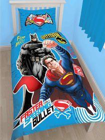 Batman Vs Superman Single Panel Duvet Set