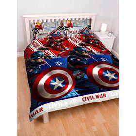 Captain America Civil War Single Panel Duvet