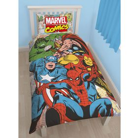 Disney Marvel Comics Justice Single Panel Duvet Set