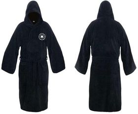 Star Wars Galactic Empire Fleece Robe Black LogoAdult One Size