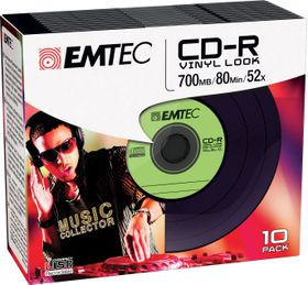 EMTEC CD - R 700MB 52x Vinyl Slim (10)