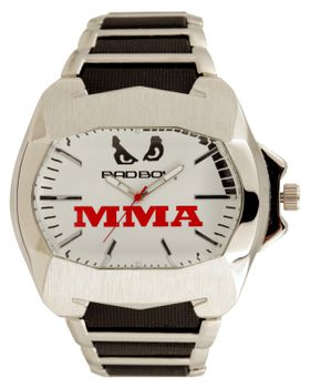 Bad Boy MMA Mania Analogue Watch - Silver