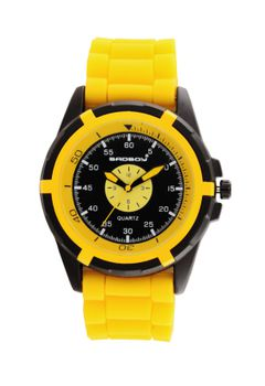 Bad Boy Speed Analogue Watch - Yellow and Black