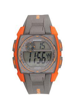 Bad Boy 100M-WR Digital Men's Watch - Grey & Orange