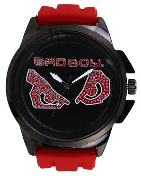 Bad Boy Fire Analogue Watch - Red and Gun