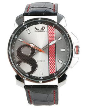 Bad Boy Rush Analogue Watch - Black and Silver