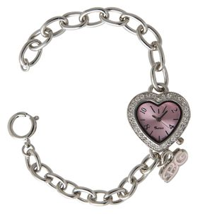 Bad Girl Funky Heart Analogue Watch - Silver