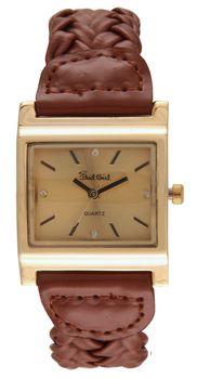 Bad Girl Twist Analogue Watch - Tan and Gold