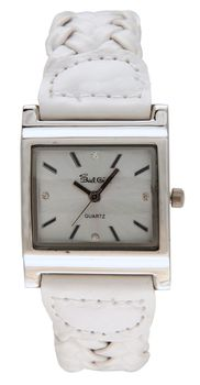 Bad Girl Twist Analogue Watch - White and Silver