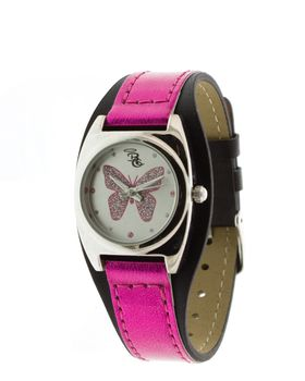 Bad Girl Wings Analogue Watch - Pink