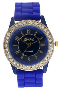 Bad Girl Stunna Analogue Watch - Navy and Gold