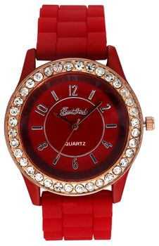 Bad Girl Stunna Analogue Watch - Red and Silver
