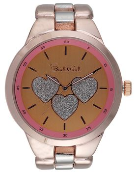 Bad Girl Flirt Analogue Watch - Rose Gold and Silver