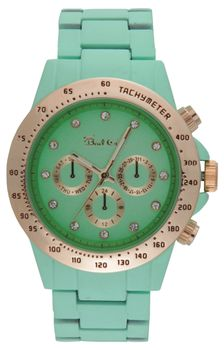 Bad Girl Foxy Analogue Watch - Mint Green