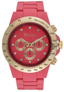 Bad Girl Foxy Analogue Watch - Coral