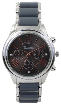 Bad Girl Platinum Analogue Watch - Silver and Grey