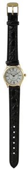 Digitime Classic Leatherette Analogue Watch - Gold