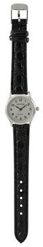 Digitime Classic Leatherette Analogue Watch - Silver