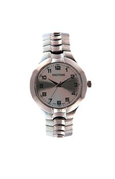 Digitime Expander Analogue Watch - Silver