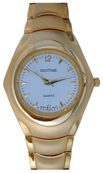 Digitime Mag Analogue Watch - Gold