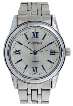 Digitime Element Analogue Watch - Silver