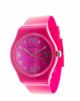 Digitime Carousel Plastic Analogue Watch - Pink