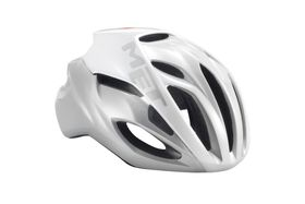 MET Rivale Helmet - White / Silver- Size: Large