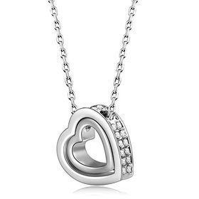 Treasures Elegant Double Heart Necklace